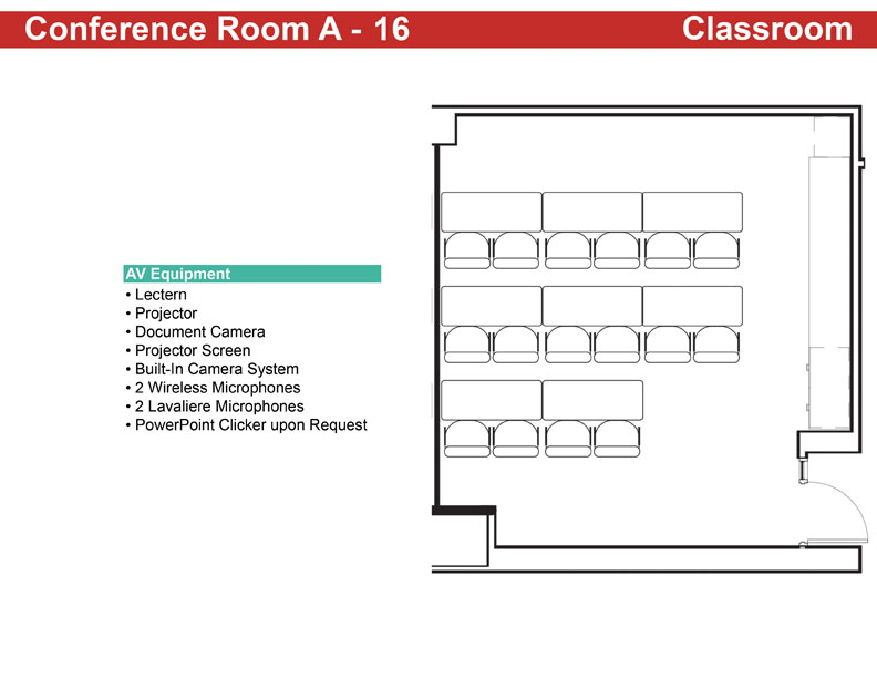 Conference Room A - 16 Classroom