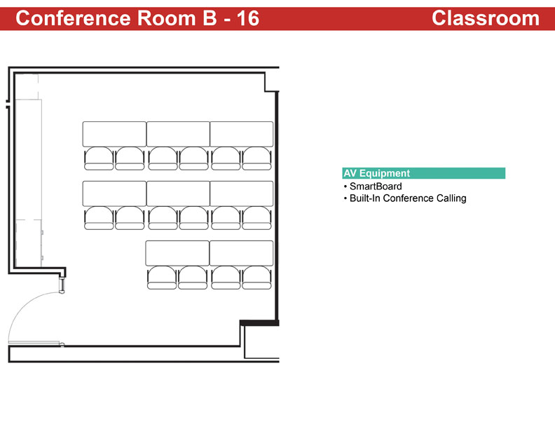 Conference Room B - 16 Classroom