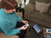 Person using Care Innovation home health equipment