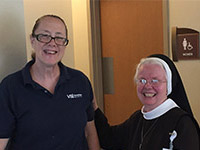 Sister Angelita with Sue