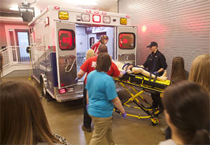 High School Students Attend EMT Demonstration at Jump
